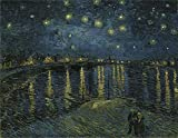 DIY 5D Diamond Painting by Number Kit,Full Drill Rhinestone Embroidery Cross Stitch Supply Arts Craft Canvas Wall Decor,Vincent Willem Van-Starry Night on The Rhone