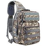 Lixada Tactical Backpack Military Sling Bag Molle Shoulder Bag Sling Fishing Tackle Bag for Outdoor Hiking Camping Hunting Shooting Fishing