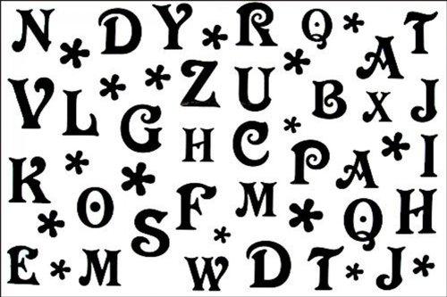 Tatouage temporaire non - toxique imperméable SPESTYLE stickerslatest nouvelle conception nouvelle version temporaire tatouages masculins imperméable et modèles féminins en noir et blanc 26 lettres de l' alphabet tatouage temporaire