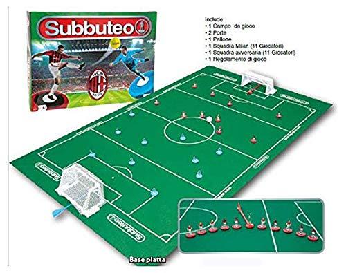 Giochi Preziosi Subbuteo Playset Milan, Tappeto Gioco, 2 Porte, Pallone