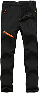 comprar comparacion Hombre/Mujer Impermeable Pantalones Softshell Forro Polar cálido Pantalones de Invierno Pantalones de Escalada Deportes Ca...