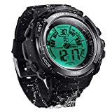 10 ATM Digital Submersible Diving Watch 100m Water Resistant Swimming Sport Wristwatch Luminous LCD Screen with Stopwatch Alarm Function