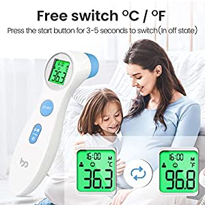 Fieberthermometer Stirnthermometer infrarot kontaktlos, akkurates digitales Sofortthermometer für Babys, Erwachsene Von Femometer