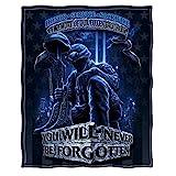 Erazor Bits Throw Blanket 50 x 60| Never Forget Fallen Soldier Throw Blanket MM110-TB