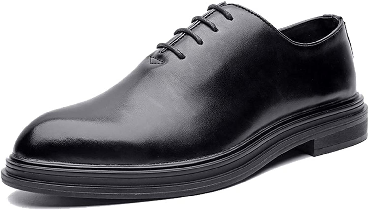 Men's Business Oxford Casual Classic Solid color Gentleman Style Formal shoes (color   Black, Size   5.5 UK)