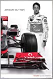 Close Up Mclaren Mercedes Poster Jenson Button (93x62 cm)