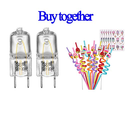 Better Together 2 Pack Light Bulb Fits for GE Microwave Oven with 24 pack Ice Cream Straws