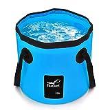 Scelet Falteimer, tragbare Faltbare Eimer Wasserträger Vorratsbehälter für Camping Wandern Angeln Reisen 12L 20L