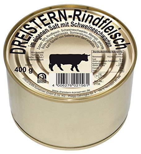 Dreistern Rindfleisch im eigenen Saft Goldlackdose, 400 g