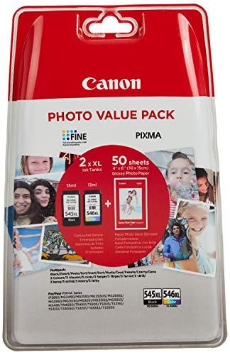 Canon 8286B006 PG 545XL und CL 546XL Tintenpatrone, Schwarz