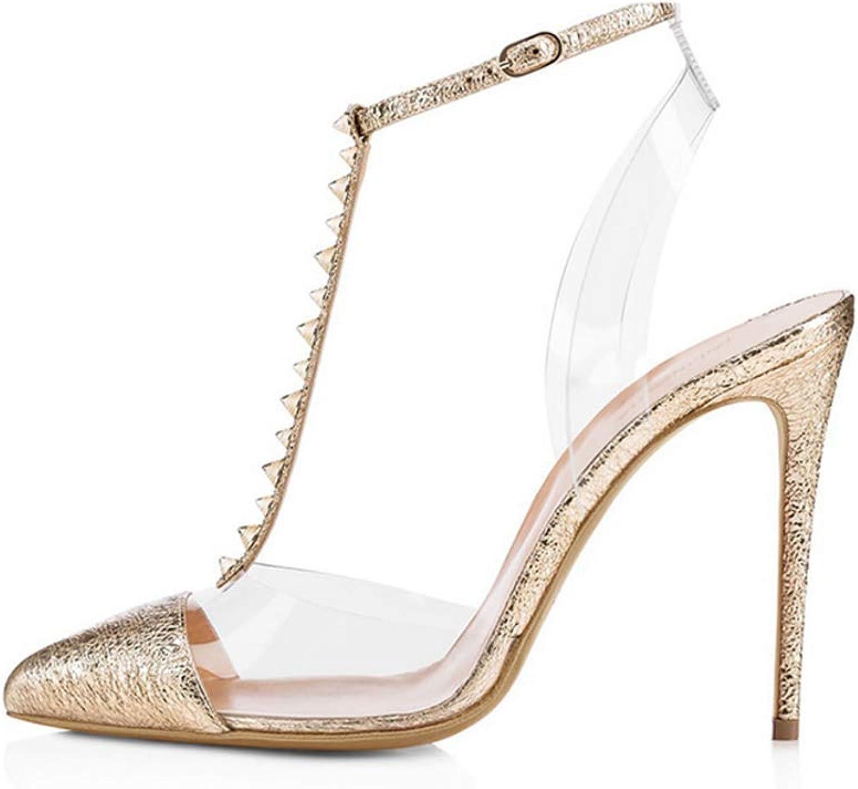 Women's Pointed high Heels high Heels Non-Slip Dress high Heels,gold,43
