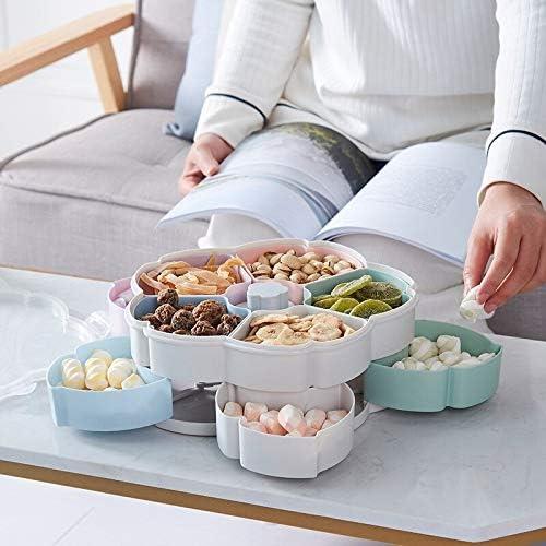 Fleur Pétale Fruit Rotating Plate Contenant à bonbons boîte de rangement Nuts Snack Plateau de soirée de mariage cuisine Organisateur Phone Holder (Color : 1) 1