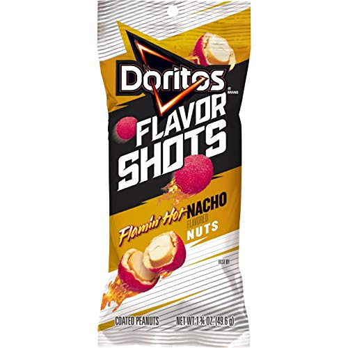 Doritos Flavor Shots Flamin' Hot Nacho Coated Peanuts - 1.75oz