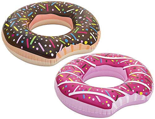 Bestway Doughnut Swim Ring 94 x 94 x 28 cm Brown + Pink