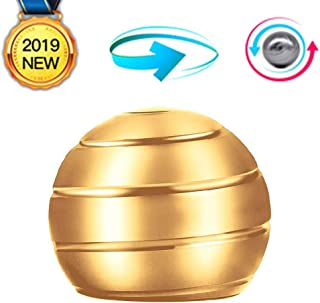 BOBOSOW Kinetic Desk Stress Relief Toy,Office Executive Metal Fidget Spinning Ball for Adults & Kids, Spinner Toys for ADHD & Eliminate Anxiety & Keep Focus & Relaxing (Gold)
