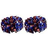 2 Stück Cheerleading Pompoms Shank Cheerleader Pompons, Aerobic Cheerleading Pompons Metallic für...