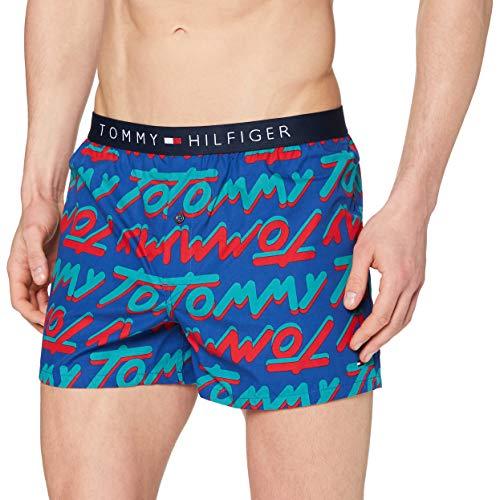 Tommy Hilfiger Herren Woven Boxer Bold Type Baselayer-Hose, Sodalitblau, XL