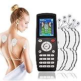 Elettrostimolatore Muscolare TENS a 4 canali,Elettrico TENS Massaggiatore con Elettrodi, Dispositivo Professionale Digitale Elettronico Stimolazione per Schiena, Cervicale, Spalle, Gamba
