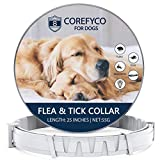 COREFYCO Flea and Tick Control Collar for Dogs, Allergy Free and Hypoallergenic, Repels Fleas & Ticks Collar, Adjustable & Waterproof,8 Month Best Treatmentfor Dogs Over 18 lbs. - Gray