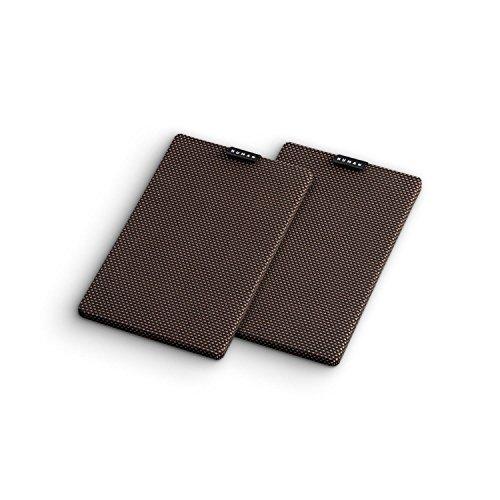 NUMAN Retrospective 1979 S Lautsprecher-Abdeckung Cover (Paar, Verbindung ohne Stecker, optimaler Schutz der Lautsprechermembran) dunkel-braun