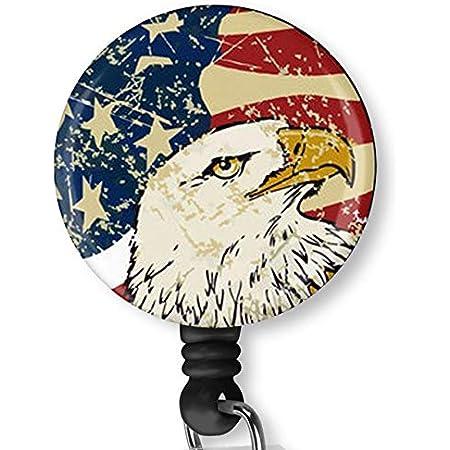 Cute Fireworks Holiday Retractable Lanyard ID Badge Reel Patriotic Gifts 4th of July Patriotic USA America Retractable ID Name Badge Reel