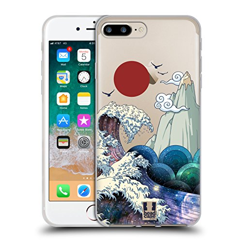 Head Case Designs El Gran Surf Galaxia Ondas Carcasa de Gel de Silicona Compatible con Apple iPhone 7 Plus/iPhone 8 Plus