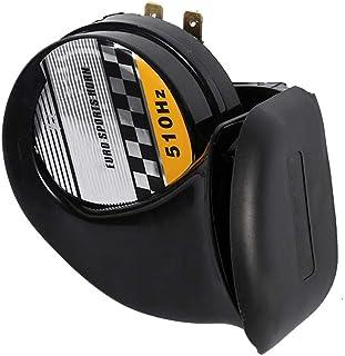 115DB 510Hz Sirena de caracol Speeker Impermeable, 12V 3.5A Cuerno de caracol eléctrico de alto y bajo sonido, Keenso Universal Mini Loud Electronic Air Horn para motocicleta Auto Car Scooter