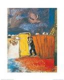 1art1 Marc Chagall - Claire De Lune Poster Kunstdruck 50 x