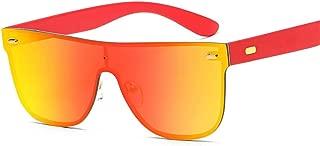 SGJFZD Conjoined Outdoor Seaside Sunproof UV400 Ladies' Polarized Sunglasses Vintage Retro Sporting Large Frame Elegant Sunglasses Trendy Fishing (Color : Red)