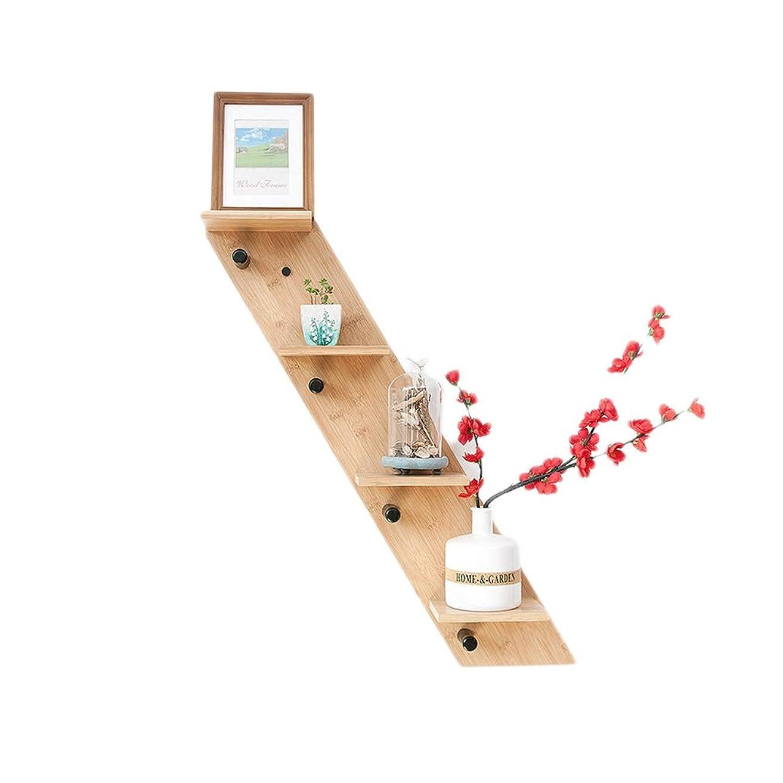 バッジ仮定するヘビーNBgy ウォールシェルフ、フローティング棚浴室純木棚4層壁掛け強力収納、ウッドカラー、2スタイル、70 * 16センチ (色 : Right section)