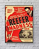 Reefer Madness Poster Standard Size | 18-Inches by 24-Inches | Reefer Madness Posters Wall Poster Print