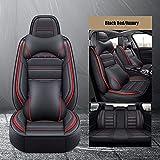Fundas Asientos Coche Universales para Kia Sportage Rio 4 Sorento Cerato Ceed Rio 3 Rio Sportage 2019 Mazda 3 Cx-5 6 3Accesorios Coche, Coffee Luxury-Black Red Luxury