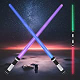 KEZUN Light Up Saber 7 Colors 2 in 1 LED Light Saber Sword with Sound (Motion...