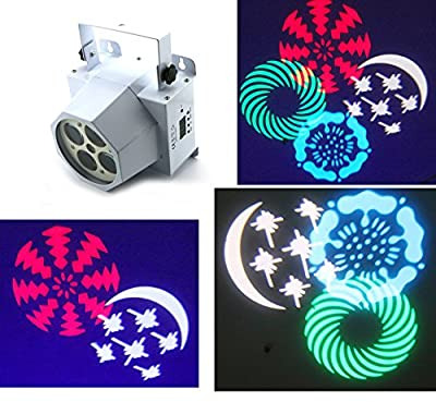 BIG PROMOTIONS for stocking clear---Wonsung Beatiful Amazing patterns party stage light 12W RGBW cree LED 4 LENS 4 gobos effect DMX moving lights for Festival Christmas Home gig wedding Party Disco bar par DJ stage lighting