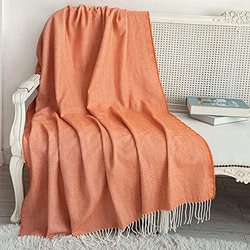 Mantas Para Sofas Naranja mantas para sofa  Marca Sylanfia