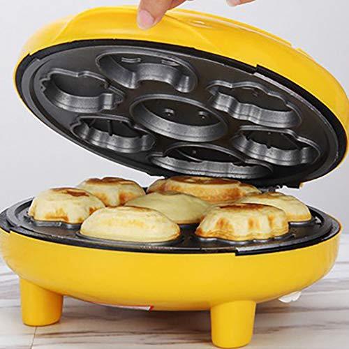 Mini Cake Waffle Maker Electric Bread Pancake Heating Machine Cute Round Baking Tools Breakfast and Dessert Machine for Kitchen & Home