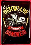 Tin Sign Blechschild 20x30 cm Simson Schwalbe DDR Roller Kult Moped Werkstatt Reklame Werbung Plakat Metall Schild