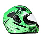 Typhoon K77 Full Face Motorcycle Helmet DOT - SAME DAY SHIPPING (Matte Green, Adult XXXXL)