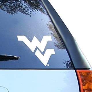 Wincraft NCAA West Virginia Mountaineers 8x8 White Decal Logo