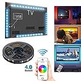 Tiras LED de TV con Control de Aplicación, 4 x 0.5 m USB RGB Multicolores Música Retroiluminación de LED Controladas por...