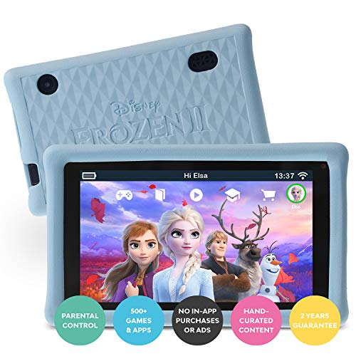 Pebble Gear Kids Tablet 7  - Disney Frozen 2 con Custodia Protettiva per Bambini, Controllo parentale Completo, Filtro Luce Blu per Bambini, Oltre 500 Giochi, apps ed e-Books, Wi-Fi, 16 GB
