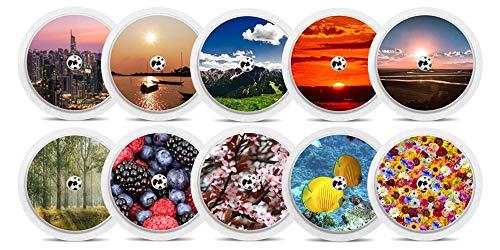 "Diasticker® | Freestyle Libre Adesivo - 10er Set""Nature"" | Adesivo in vinile per sensore di Freestyle Libre, Sticker, capteur"