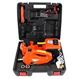 MOTORMAN TOOLS 12V DC 5.0T(11000 lbs) Electric Hydraulic Floor Jack & Inflator Pump & LED Light 3-in-1 Car Repair Tool...
