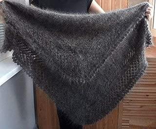 Orenburg Shawl grey russian shawl Orenburg heavy warm shawl hand knitted shawl Cashmere Pashmina Warm Wool Wrap Shawl Winter