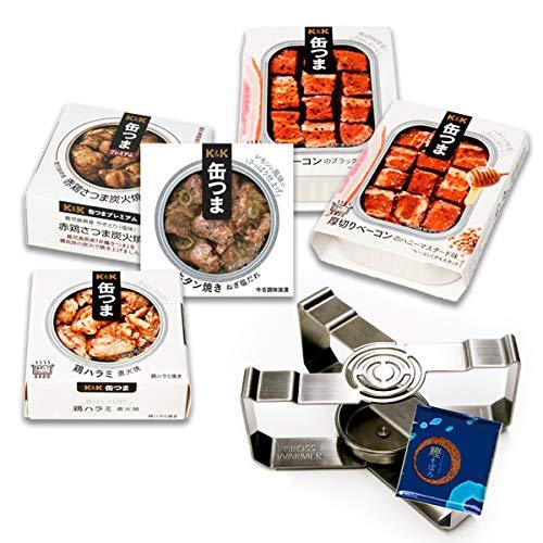 缶つま プレミアム 惣菜 缶詰 肉 5缶 詰め合わせ ベーコン 焼き鳥 おつまみ 缶詰め ウォーマー セット ふりかけ