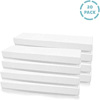 """COZYMOOD 20-Pack Cotton Filled Kraft Jewelry Gift Boxes & Lid 8"""" x 2"""" x 1"""" Inches for Necklaces Necklace Bracelets Watch Watches Pens Jewlery Cardboard Long Small Rectangle Display Case Bulk, White"""