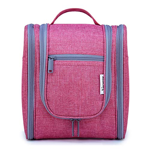 Hanging Travel Toiletry Bag Cosmetic Make up Organizer for Women and Men (Bright Pink)