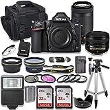 Nikon D780 DSLR Camera AF-S NIKKOR 50mm f/1.8G Lens + Nikon AF-P 70-300mm f/4.5-6.3G ED Lens + 2pc SanDisk 32GB Memory Cards + Accessory Kit