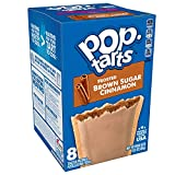 Kellogg's Pop-Tarts Frosted Brown Sugar Cinnamon - Toaster Pastries Breakfast for Kids, Pack of 8(64 tarts)