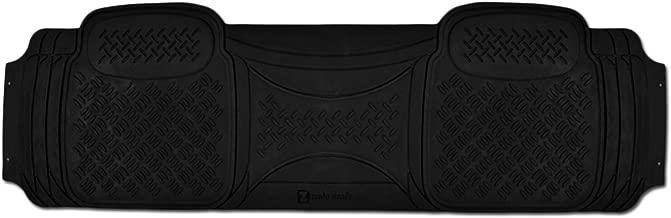 Zento Deals 1 Piece Car Diamond Black Floor Mat Universal Fit Heavy Duty Rubber Runner Vehicle Floor Mat…
